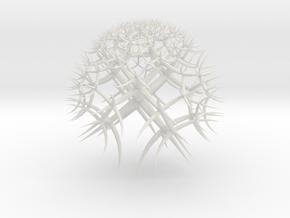 Hyperbolic Tiling in White Natural Versatile Plastic