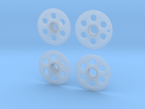 1/20 Lola T92/00 wheel covers in Smooth Fine Detail Plastic