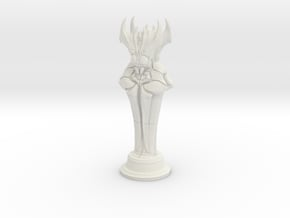 Bug God Statue in White Natural Versatile Plastic