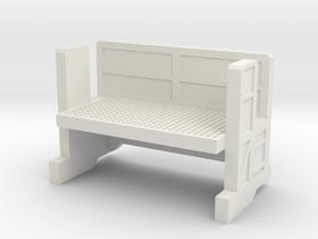 64´Tropicana Platform in White Natural Versatile Plastic