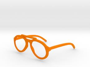 Aviator Glasses  in Orange Processed Versatile Plastic