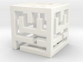 ReallyBigMazeNCubes - Inner Piece 90mm in White Processed Versatile Plastic