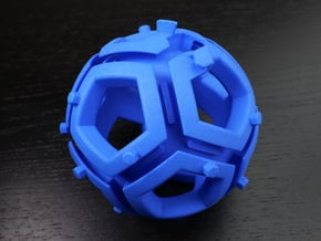 Dodecahedral holonomy maze 1 in Blue Processed Versatile Plastic