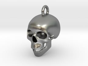 Skull Charm in Natural Silver