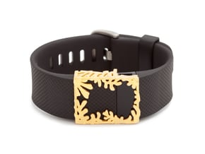 Steel Matisse frame for Fitbit Charge & HR in Polished Gold Steel