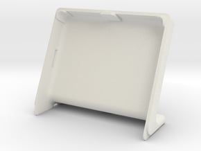 Cover HyperPixel 4.0 Square Non-Touch (Pi 3 A+) in White Natural Versatile Plastic