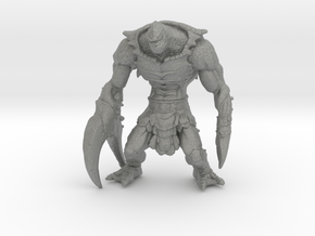 Clawful 60mm miniature model fantasy games in Gray PA12