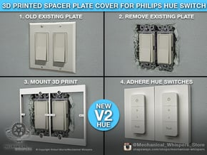 Philips Hue Dimmer Switch V2 Plate (US Decora) in White Natural Versatile Plastic