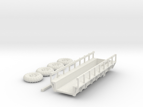 Sugar Cane Wagon and Tires HO Scale in White Natural Versatile Plastic