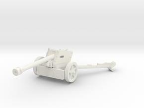 7.5 cm Pak 40 1/87 in White Natural Versatile Plastic