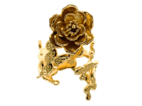 Cactus RosThe Cactus Rose Ring is inspired be Ring in 18k Gold Plated Brass: Extra Small