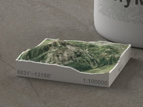 Crested Butte, Colorado, USA, 1:100000 in Natural Full Color Sandstone
