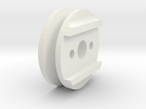 Beater Bar Pulley in White Natural Versatile Plastic