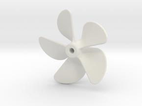 Propeller 5-bladed 1,875in (LH) in White Natural Versatile Plastic