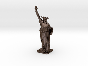 Statue Of Liberty 100mm (small) in Polished Bronze Steel