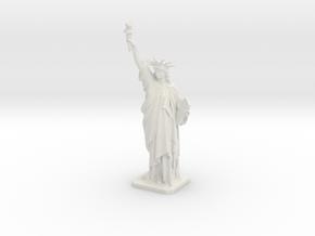 Statue of Liberty 220mm (medium) in White Natural Versatile Plastic: Medium