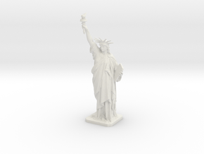 Statue of Liberty 300mm (large) in White Natural Versatile Plastic: Large