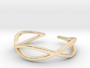Twisted Oval Toe Ring in 14k Gold Plated Brass: 4 / 46.5