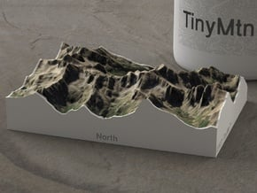 Needle Mountains, Colorado, USA, 1:50000 in Natural Full Color Sandstone
