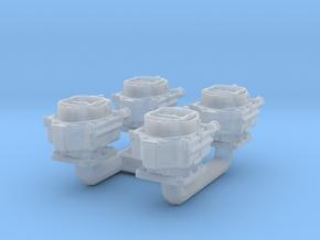 1/25 Carter WCFB Carburetors X4 PLAIN in Smooth Fine Detail Plastic