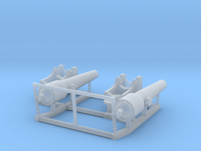 2 X 1/192 Navy Parrott 150 lb Rifled Cannon in Smoothest Fine Detail Plastic