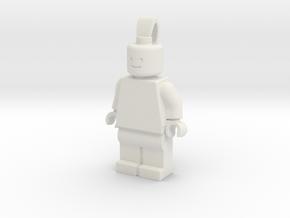 MiniFig Pendant Regular in White Natural Versatile Plastic
