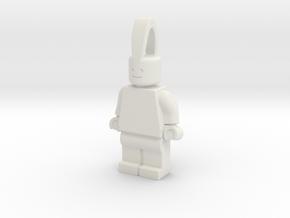 MiniFig Pendant Half Size in White Natural Versatile Plastic