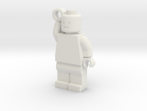 MiniFig Keychain in White Natural Versatile Plastic