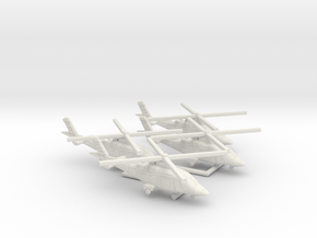 011I AW A109 1/285 set of 4  in White Natural Versatile Plastic