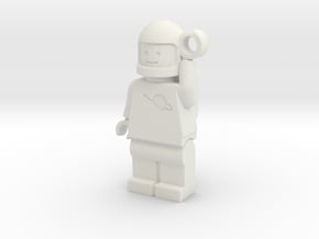 MiniFig Classic Space Keychain Mirror in White Natural Versatile Plastic