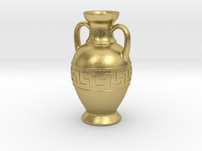 Ancient Greek Amphora jewel in Natural Brass