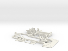 Chassis Lancia Beta for Shapeways Bodies in White Natural Versatile Plastic