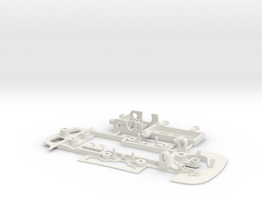 Chassis Kit Porsche 935-78 Moby Dick for Shapeways in White Natural Versatile Plastic