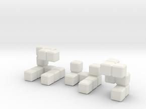 The Seldom Seen Cube in White Natural Versatile Plastic