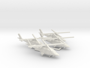 011J Agusta A109 1/250 set of 4 in White Natural Versatile Plastic