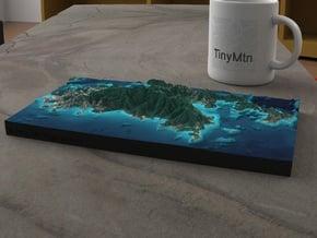St. John, US Virgin Islands, 1:64000 in Natural Full Color Sandstone