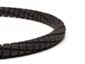 Spiral Tap Unisex Necklace in Black Natural Versatile Plastic