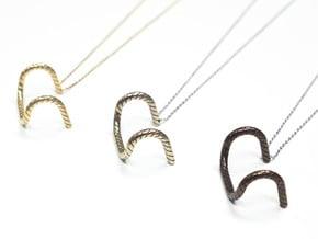 Detour Handlebar Necklace in Polished Bronzed Silver Steel