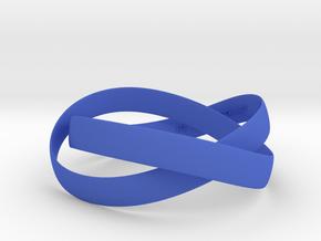 Double Swing Bracelet  62mm  in Blue Processed Versatile Plastic