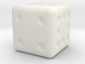 Seven Eight Nine Die in White Natural Versatile Plastic