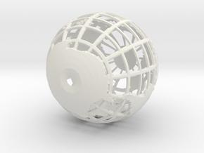 Small Globe in White Natural Versatile Plastic