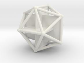Golden Icosahedron in White Natural Versatile Plastic