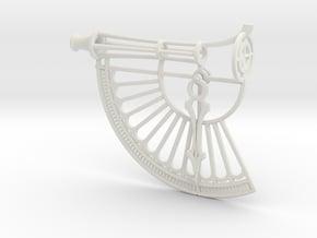 Simple Astrolabe in White Natural Versatile Plastic