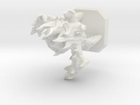 Fire elemental miniature in White Natural Versatile Plastic