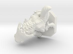 Chaos elemental miniature in White Natural Versatile Plastic