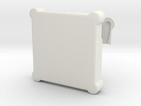 Memory card case in White Natural Versatile Plastic
