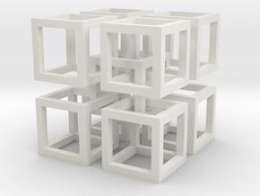 interlocked cubes 2 in White Natural Versatile Plastic