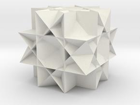 Great Rhombicuboctahedron3 in White Natural Versatile Plastic