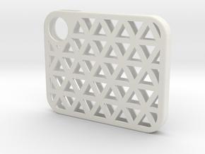 Flash Cover Triangles in White Natural Versatile Plastic