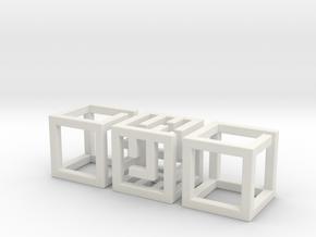 Big MazeNCubes in White Natural Versatile Plastic